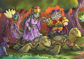 Turtles and goblins by CARUTOONS