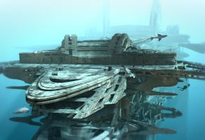 Submerged Sea Lab by HalTenny