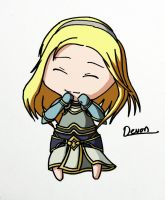Lux from League of Legends Chibi by Dei-bon