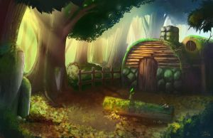 House in the Woods by astray-engel