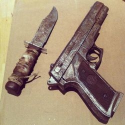 Tomb Raider Weapons - The Making by Rose-Cosplay
