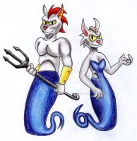 Blue Mercat and Blue Sirene by Haruka-Tavares