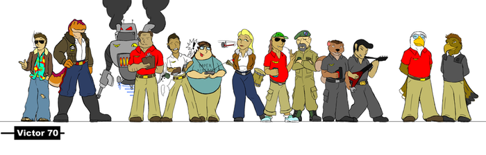 Meet The Crew by Victor70comic