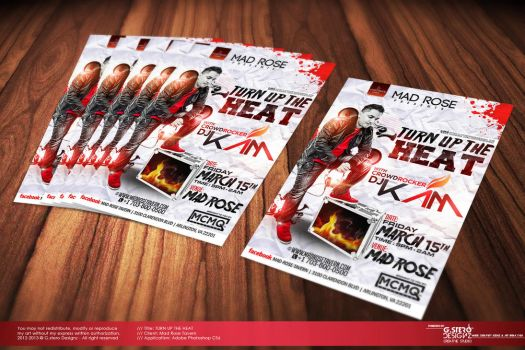 Turn Up The Heat | Dj Kam Party Flyer by Gallistero