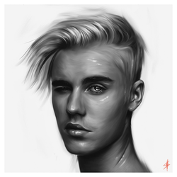 Justin Bieber - Digital Painting by aLi2k4