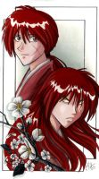 Kenshin and Battousai by Candy-Janney