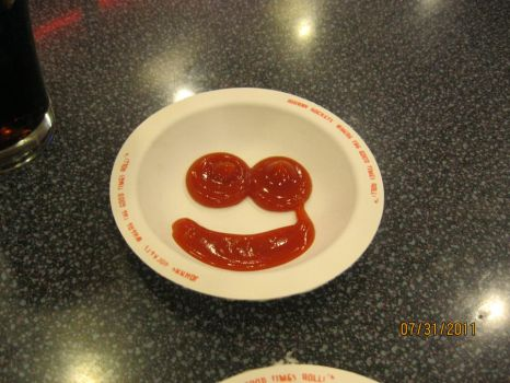 Ketchup smily by iluvampires