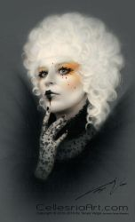 Effie Trinket Mockingjay inspired look by Cellesria