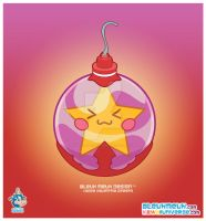 Kawaii Purple Xmas Ornament by KawaiiUniverseStudio