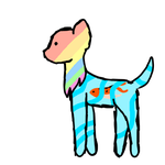 Pastel the dog and Chester the Koi by WindyDraws
