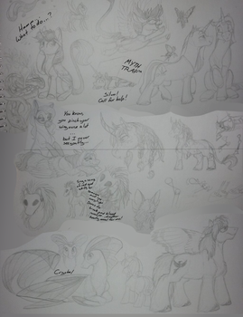 Traditional sketches by MythPony