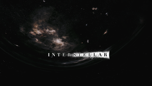 Interstellar wormhole wallpaper (with logo) by NordlingArt