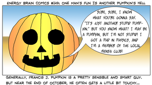 EBC #149: One Man's Fun Is Another Pumpkin's Hell by EnergyBrainComics