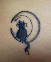 Tattoo - Cat on the moon by LuceRev