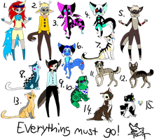 Clearance Adopts :OPEN: by Ink--Beast
