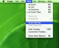 Windows Mac OS X Finder Bar XP by cyazian