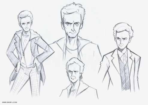 12th Doctor sketches / studies by snow-j