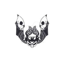 chauve souris skull by Sirulys