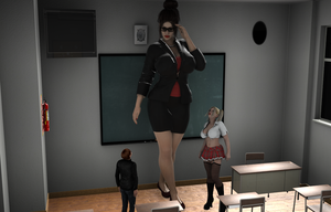 Giantess Milf Teacher is waiting for you ! by Big-ELSA