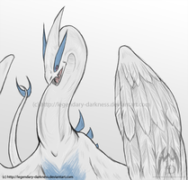 Sketch: Lugia by Legendary-Darkness
