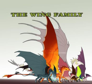 Wing Family together by Black-Wing24