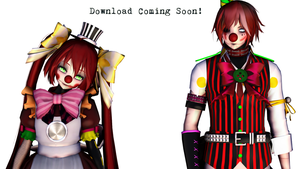 [MMD] Circus Baby and Ennard (DL coming soon) by tvall13