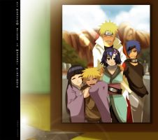 Commission: Naruhina Family by annria2002