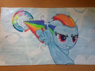 Rainbow Dash Sonic Rainboom by clouddasher