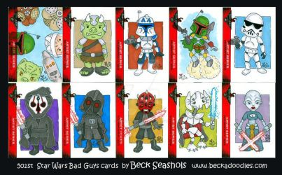 501st Star Wars Bad Guys by beckadoodles