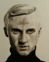 Draco Malfoy - charcoal drawing by tofu0004