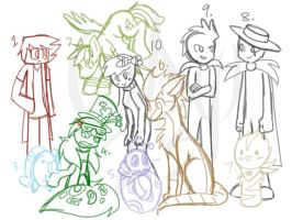 ALL DA OCS (New OCs and new species) by Gameaddict1234