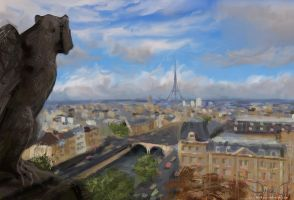 Speed Paint: Paris City Study by DM7