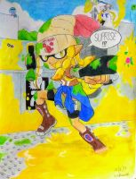 Inkling OC: Carmella Lopez by Squidtoonist