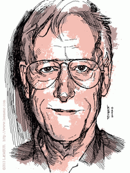 Ted Nelson in 4 bits by Laemeur