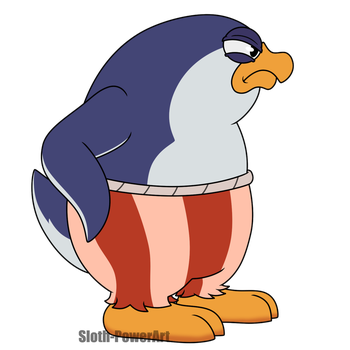 Totally not a mad penguin by Sloth-Power