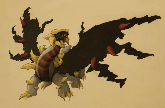 Fierce Giratina by WyrmsRoost