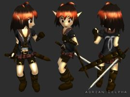 Low Poly Girl Character by DelphaDesign