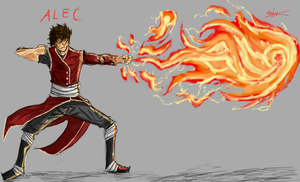 Alec The Fire Bender by Hysterio0
