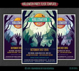 Halloween Party Flyer Template #4 by olgameola