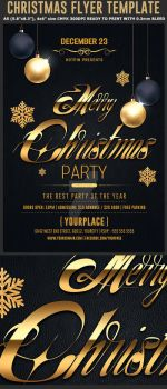 Classy Christmas Flyer Template by Hotpindesigns