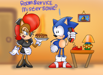 Sally with RoomService by ClassicSonicSatAm