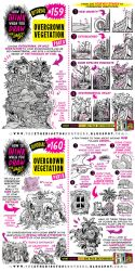 How to  draw OVERGROWN VEGETATION tutorial by STUDIOBLINKTWICE
