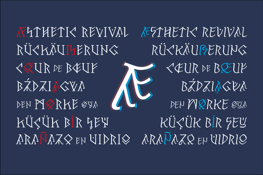 Pertho runic typeface (diacritics preview) by hyvyys