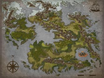 New blank fantasy Map by Sedeslav
