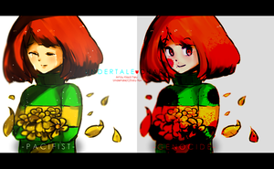 Pacifist Chara / Genocide Chara by kiacii-official