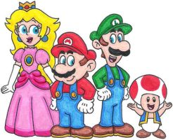 The Classic Super Mario Group by nintendomaximus