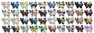 40 Adoptables (OPEN) by What-The-Adopts