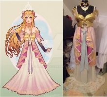 Queen Zelda evening gown by Narayu