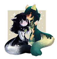 Natsume and Hokuto commission by Lucia-Conchita