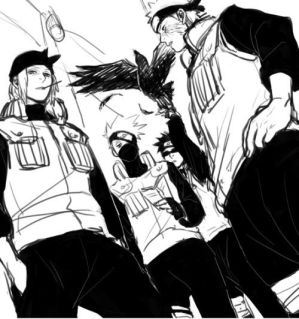commission] intro | kakashi x reader x genma by sobersenpai on